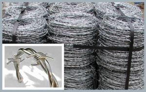 50kg/Coil Galvanized Barbed Iron Wire for Fencing (XM-42) pictures & photos