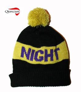 Custom Jacquard Beanie Knitted Hat pictures & photos
