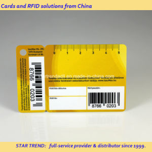 Nonstandard Plastic Card with Barcode for Member pictures & photos