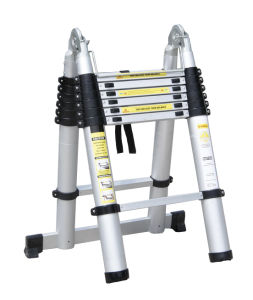 GS Approved 4.4m Double Sided Aluminum Telescopic Ladder pictures & photos