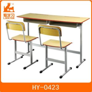 School Double Desk and Chairs/Study Furniture for Classroom pictures & photos