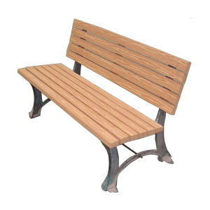 Wooden Plastic Compound Outdoor Garden Bench for Park pictures & photos