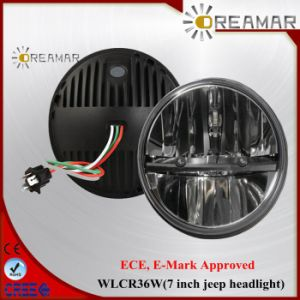 "7"" Dual Beam CREE Headlight with ECE, E-MARK pictures & photos"