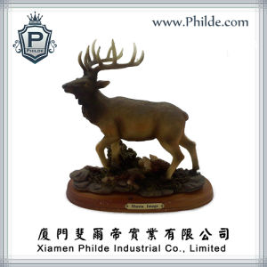 Custom Resin Antler Elk Animal Figurine Statue