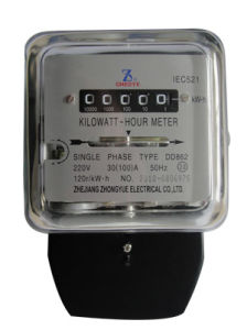 Small Size Dd862 Single Phase Electromechanical Kilowatt Hour Meter With Glass Case