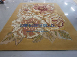 New Zealand Wool Handtufted Flower Carpet pictures & photos