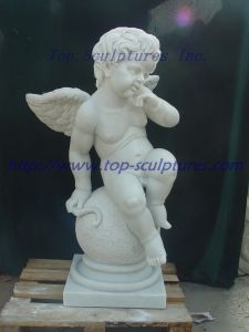 White Marble Cherub Sculpture Marble Statue Stone Sculpture pictures & photos