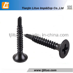 Bugle Head Black Phosphated Self Drilling Screws pictures & photos