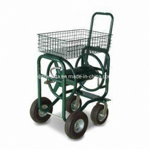 Steel Bracket and Four Wheels Hose Reel Cart (TC4709) pictures & photos