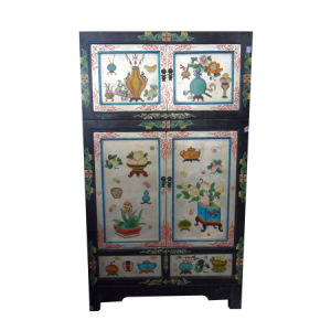 Chinese Antique Hand Painted Wooden Cabinet Lwa461 pictures & photos