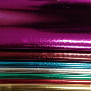 Colourful Patent Embossed with Film Synthetic Leather (DF34)