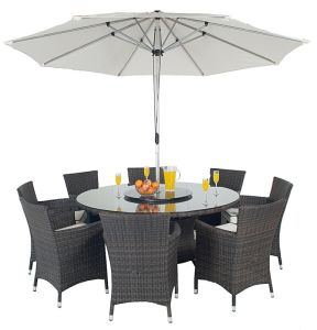 Outdoor Wicker Dining Table and Chair (PAD-1107)