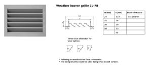 Weather Louvre Grille for Ventilation pictures & photos