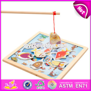 Top Fashion Childhood Play Toy Wooden Kids Fishing Game W01A191 pictures & photos
