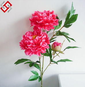 Artificial Fake High End Home Decor Real Touch Silk Fabric Peony
