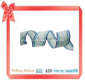 """6 Satin Stripe 1-1/2"""" Organza Ribbon for Festival Decoration"""