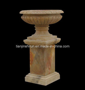 Marble Vase On Pedestal (22199) pictures & photos