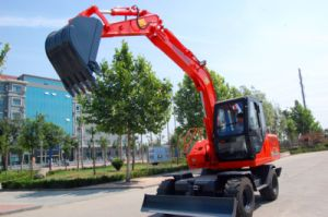 Four Wheels Hydraulic Heavy Type Excavator (HTL80-9) pictures & photos