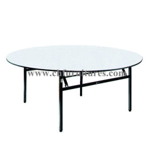 Folding Round Wedding Banquet and Hotel Table (YC-T01) pictures & photos