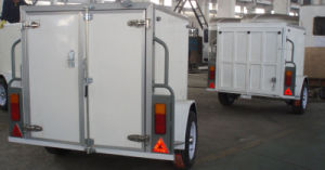 Single Axle Cargo Trailer With Rear Ramp Door (GW-BLV7) pictures & photos