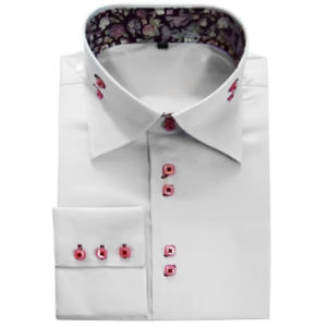 Newest White Mens Bamboo Cotton Business Shirt