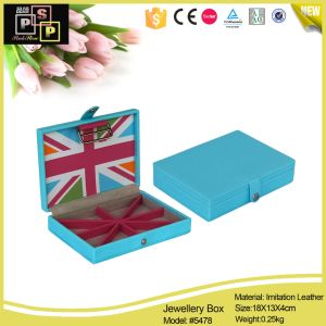 2016 China Supplier Small Purple Cheap Leather Paper Jewelry Box pictures & photos