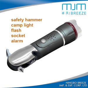 LED Police Emergency Multi-Function Safety Hammer Tool Flashlight 807e pictures & photos