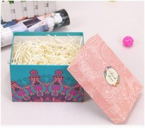 Paper Box with Printed Lid, Gift Corrugated Paper Box