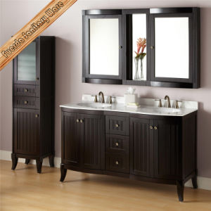 Fed-1828 China 60 Inch Double Sinks Modern White Bathroom Furniture pictures & photos