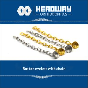 Orthodontic Products, Accessory Round Base Eyelet with Chain pictures & photos