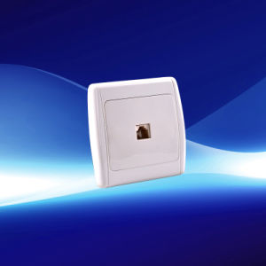 1 Gang Telephone Wall Socket (YW21107)
