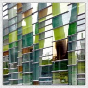 4mm Green, Blue, Bronze, Clear, Pink Reflective Glass for Building pictures & photos