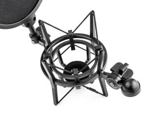 "Sh100 Black Microphone Shock Mount and 5.9"" Diameter Pop Filter Bundle for 21mm (0.82"") Diameter Microphones pictures & photos"