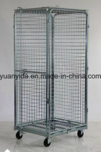 Folding Security Small Wire Mesh Roll Pallet/Roll Container pictures & photos