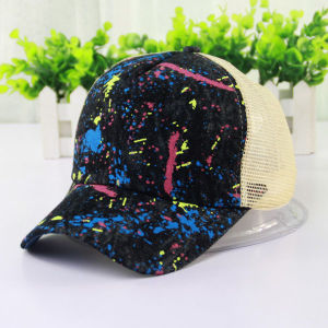 Women Fashion Cotton Denim Mesh Baseball Leisure Cap (YKY3033) pictures & photos