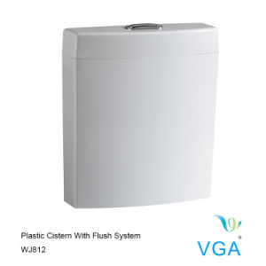 Plastic Cistern with Toilet Tank Plumbing Fittings Wj812