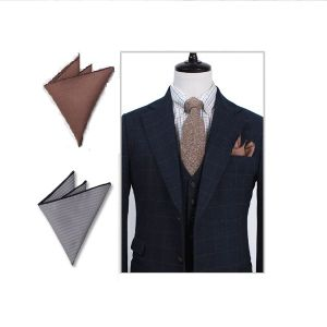 100% Cotton Mens Pocket Handkerchief pictures & photos