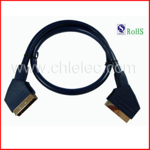 100% Tested 21pin Sy035 Scart Cable with RoHS Certicate pictures & photos