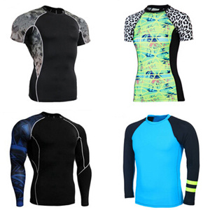 Black FUJI Full Sublimation Good Quality MMA Rash Guards in All Colors and Customization Available