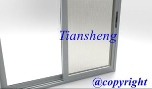 Double Glazing Aluminum Sliding Door with Crimsafe Screen pictures & photos