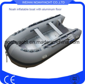 Orca Hypalon Aluminum Floor Inflatable Boats for Rescue with Outboard Engine pictures & photos