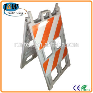 Road Construction A Shape Plastic Traffic Barrier / Plastic Traffic Barricade pictures & photos