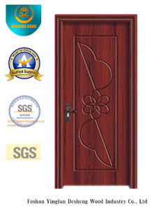 Simple Design MDF Door with Flower Carving for Room (xcl-821) pictures & photos