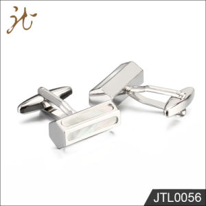 Fashion Nice Quality Brass Cuff Links in Silver Color pictures & photos