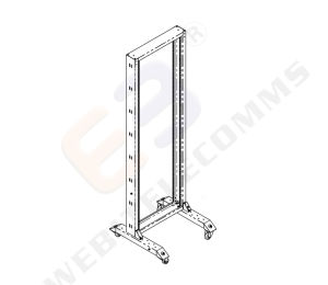 19′′ 2 Post Open Rack with Castor pictures & photos