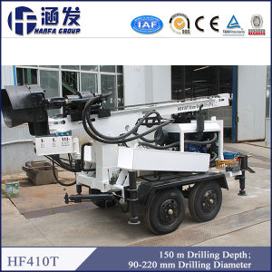 Most Popular in Water Well Project! Model Hf410t Trailer Drilling Rig for Sales pictures & photos