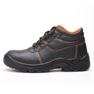 Fashion Industrial Full PU Leather Worker Footwear Safety Shoes pictures & photos