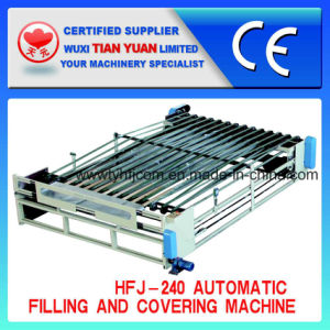 Automatic Nonwoven Computerized Quilt Filling and Covering Machine (HFJ-240) pictures & photos