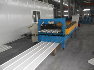 Antique Glazed Trapezoidal Roof Roll Forming Machinery pictures & photos