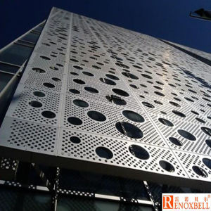 8mm Diameter Round Holes Punched / Perforated Aluminum Panels pictures & photos